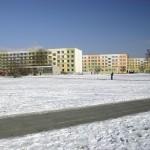 Domy studenckie w kampusie