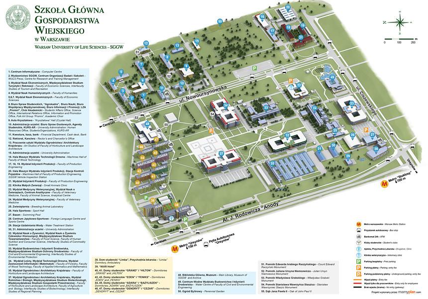 Plan Kampusu SGGW